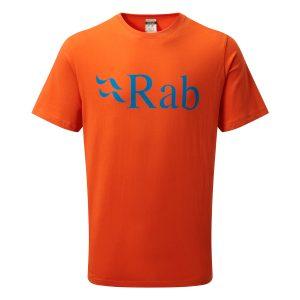 Rab Mens Stance Logo SS Tee Firecracker
