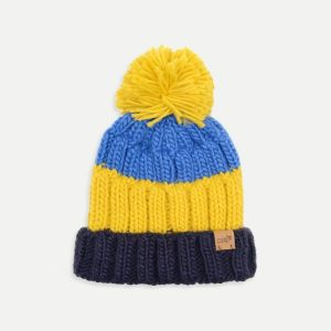 Muddy Puddles Knitted Bobble Hat