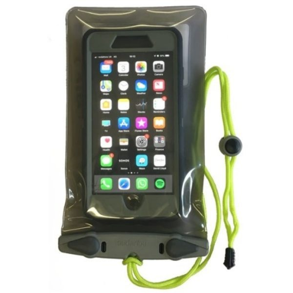 Aquapac 368 Waterproof 'PlusPlus' size case. fits iPhone 8+ with bulky shockproof case