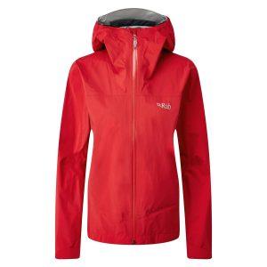 Rab Womens Meridian Waterproof Jacket Ruby